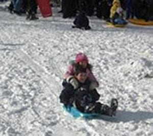 Winter activities in Lake Geneva