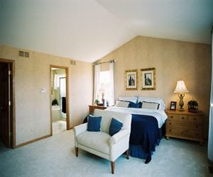 Homes in Liberty Trails have comfy bedrooms