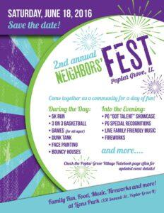 Lions Club 2nd Annual Neighbors' Fest in Poplar Grove